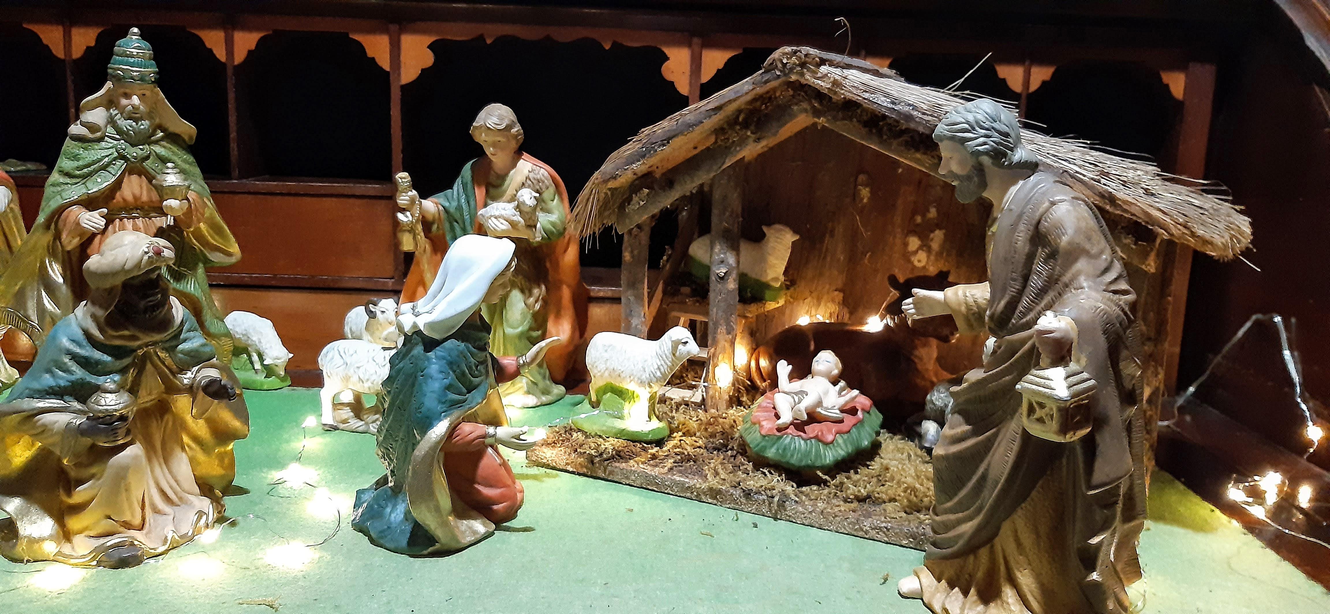 Pesebre navideño de navidad niño DIos